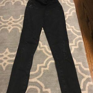 AG maternity black jeans